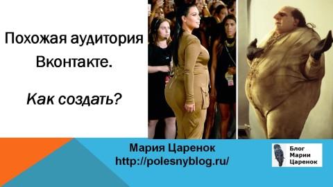 Похожие аудитории. Похожая аудитория ВКонтакте