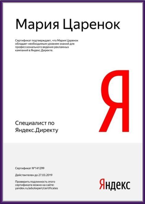 Специалист по Яндекс Директ