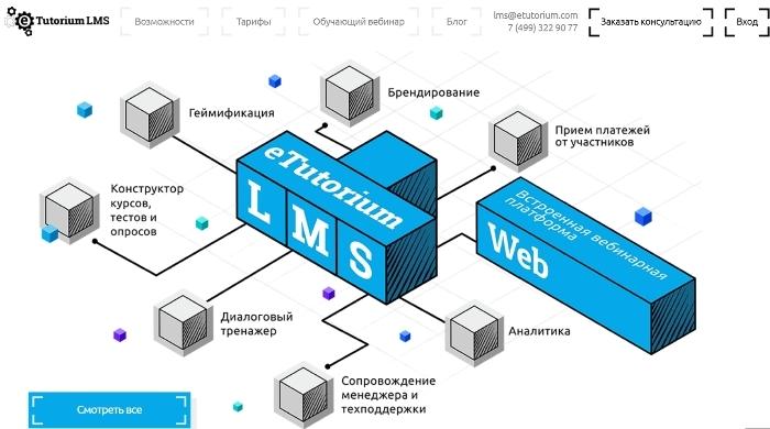 eTutorium LMS - платформа для онлайн-школы