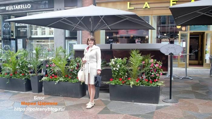 Уличное кафе. Хельсинки
