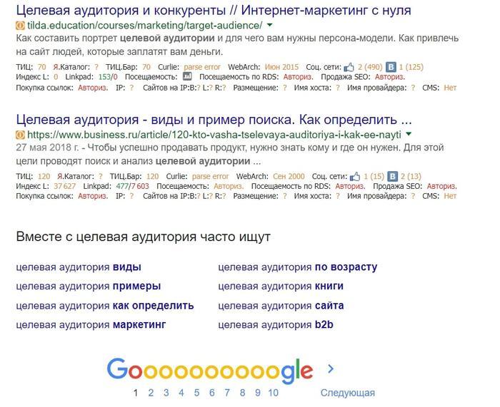 Вместе с … часто ищут (Google)