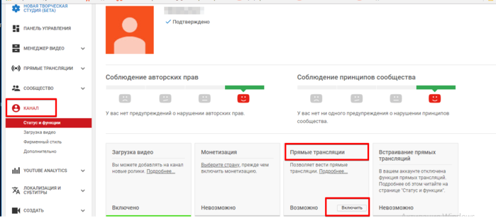 Создание бизнес-канала YouTube и подключение его к AdSense. Шаг 12